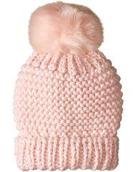 Free People - Skyline Pom Beanie (pink) Beanies - Lyst