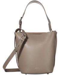 Reiss Hudson Mini Bucket Bag - Gray