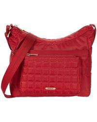 Hedgren Kalpana Eco-nylon Multi-pocket Hobo - Red