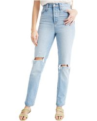 Madewell Classic Straight Jeans In Hartsville Wash - Blue