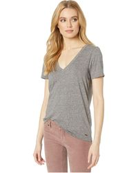 X n:PHILANTHROPY Womens Casual V-Neck Tee Shirt Olive Ringo