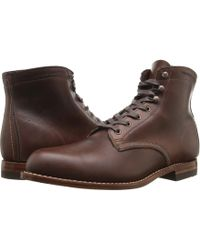 Wolverine - Original 1000 Mile 6 Boot (black Leather) Men's Work Boots - Lyst