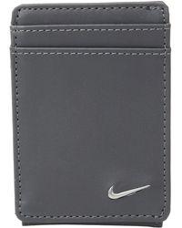 Nike - Color Block Cardfold (black/dark Grey) Wallet Handbags - Lyst