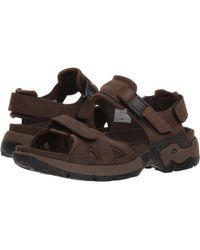 Alligatorbrown Brown Leatherdark Waxy NeopreneMen's Sandals 34RL5Ajq