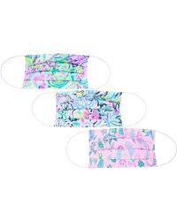 Lilly Pulitzer 3-pack Face Mask Assorted - White