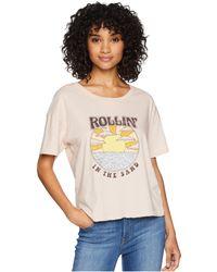 Amuse Society - Sun Shine On Me Tee (desert Rose) Women's T Shirt - Lyst