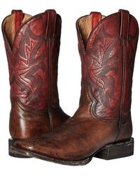 Stetson 11 Double Welt Wide Square Toe - Brown