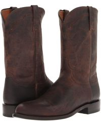 Lucchese - M1018.c2 (chocolate Madras Goat Roper) Cowboy Boots - Lyst