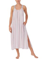 Donna Karan Sleepwear Eco Vera Maxi Sleep Gown - White