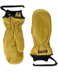 Obermeyer Leather Mitten - Natural