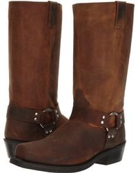 432f7322253 Old West Boots Short Harness Boot in Brown for Men - Lyst