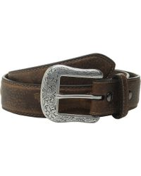 Ariat - Oval Shield Belt (brown) Men's Belts - Lyst