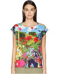 Paul Smith - Floral Woven Knit T-shirt (navy) Women's T Shirt - Lyst