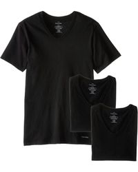 CALVIN KLEIN 205W39NYC - Short Sleeve Cotton Classic Slim Fit V-neck 3-pack - Lyst