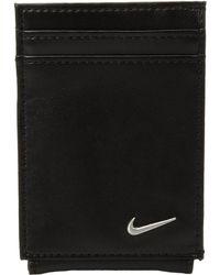 Nike - Color Blocked Cardfold (black/black) Wallet Handbags - Lyst