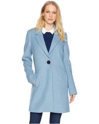 Sam Edelman Blazer Coat (light Blue) Women's Jacket