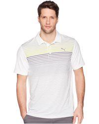 PUMA - Highlight Stripe Polo - Lyst