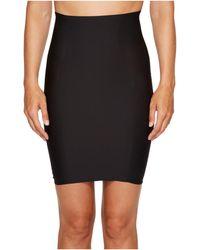 Yummie By Heather Thomson Hidden Curves High-waisted Skirt Slip - Black