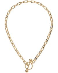 Steve Madden - Rolo Ring Chain Bar Necklace (gold) Necklace - Lyst