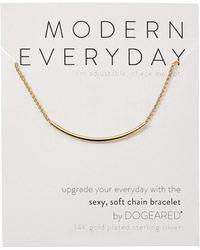 Dogeared - Modern Everyday, Soft Chain Bracelet (sterling Silver) Bracelet - Lyst