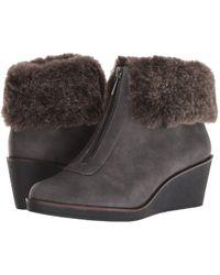 A2 By Aerosoles Bintegrity (grey Combo) Wedge Shoes - Gray