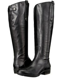 Sam Edelman Penny Wide Calf Leather Boots - Black