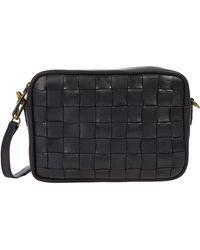 Madewell Large Transport Camera Bag Woven Cross Body Handbags - Black