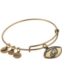 ALEX AND ANI - Philadelphia Eagles Football Charm Bangle - Lyst