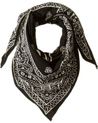 Polo Ralph Lauren - Square Knit Bandana Scarf (black) Scarves - Lyst 0ce212bee30