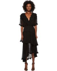 The Kooples Silk Muslin Dress (black) Women's Dress