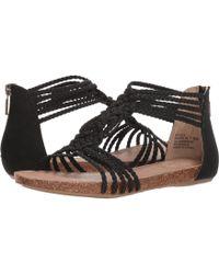 Me Too - Nakira (black Goat Nubuck) Women's Dress Sandals - Lyst