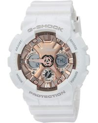 G-Shock - Gma-s120mf-7a2cr (white/pink/gold) Watches - Lyst