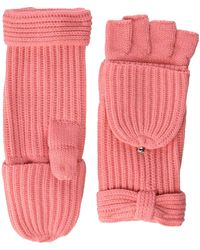 Kate Spade Solid Bow Pop Top Mitten - Pink