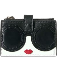 Alice + Olivia Ester Stace Face Small Accordion Wallet - Black