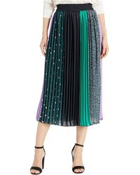 Kate Spade Pop Dots Print Mix Skirt - Black