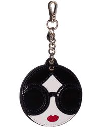 Alice + Olivia Dolly Stace Face Mirror Key Charm - Multicolor