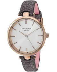 Kate Spade - Holland Multicolor Glitter Leather Watch - Lyst