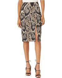 Yigal Azrouël - Leopard Printed Scuba Skirt - Lyst