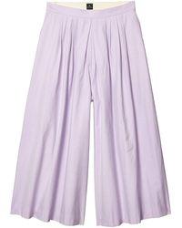 Paul Smith Ps Cotton/viscose Culottes - Purple