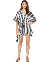 Tory Burch - Ravena Awning Stripe Beach Caftan Cover-up - Lyst