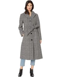 Kate Spade Double Breasted Wool Belted Trench - Gray
