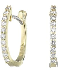 Roberto Coin - Perfect Diamond Huggy Earrings - Lyst