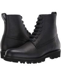 Vince Commander Lug Sole Lace Up Boots - Black