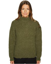 Boutique Moschino - Green Chunky Knit - Lyst