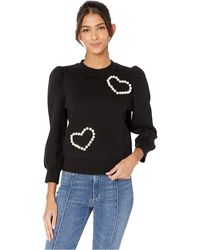 Kate Spade Pearl Pave Heart Sweatshirt - Black