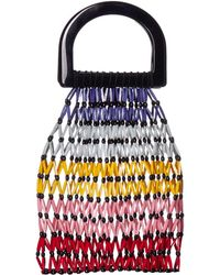 Alice + Olivia Selena Beaded Handle Bag - Multicolor