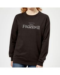 Disney Frozen 2 Title Silver Sweatshirt - Black