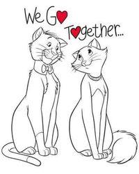 Disney Aristocats We Go Together Sweatshirt - White