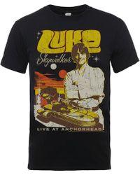 Star Wars - Luke Skywalker Rock Poster T-shirt - Lyst