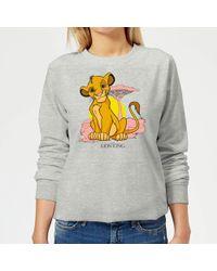 Disney Lion King Simba Pastel Sweatshirt - Gray